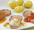 Truthanschnitzel mit Tomaten-Kräuter-Sauce